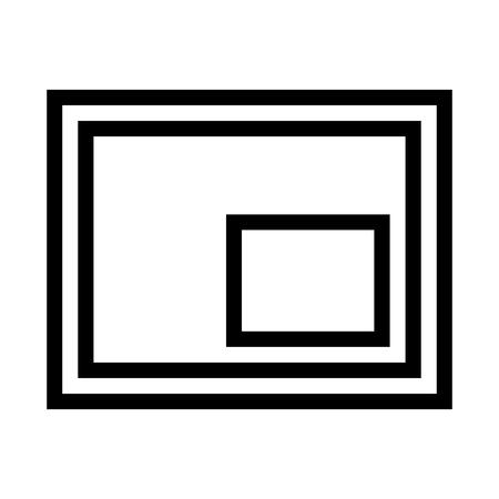 Minimize to Mini Player Icon Vector