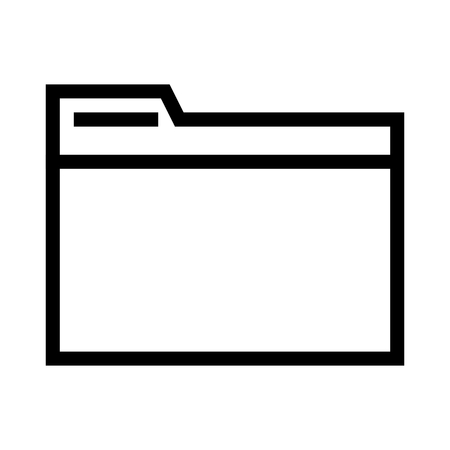 Computer Document Folder Icon Vector 矢量图像