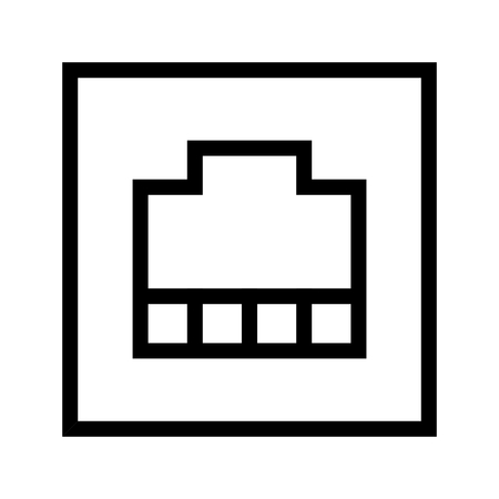 RJ-45 Port, Local Area Network (LAN) Port Icon Vector