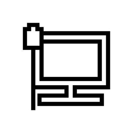 Computer Ethernet Connection Connected Icon Vector