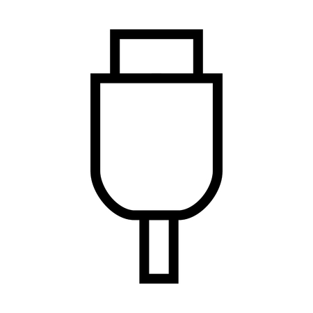 USB, Removable Hardware, Computer Cable Connection Icon Vector.