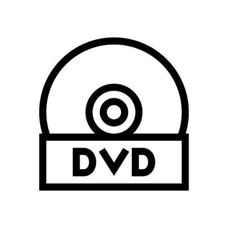 DVD Rom Disk Icon Vector 矢量图像