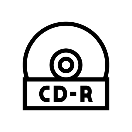 CD Rom Disk Icon Vector