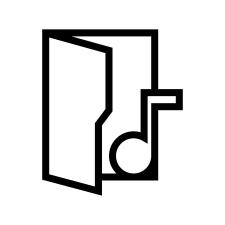 Music Sound Tone Files Folder Icon Vector