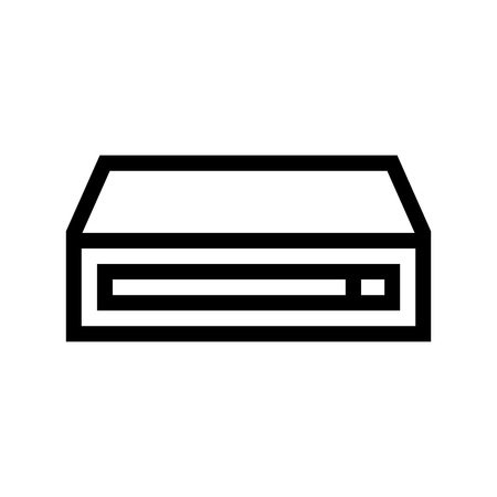 Computer Hard Drive Icon Vector