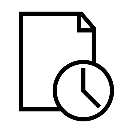 Recent Access File Icon Vector