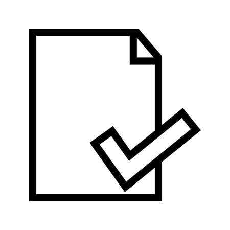 Document File Information/ Properties Icon Vector