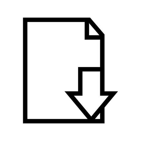 Download File Document Icon Vector 矢量图像
