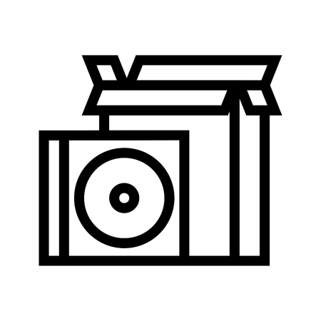 CD & Installation Program Icon Vector Archivio Fotografico - 121838252