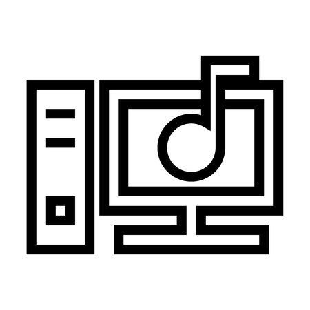 Personal Computer Sound Settings Icon Vector 矢量图像