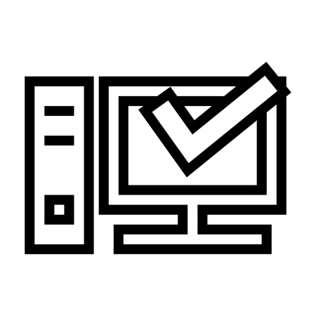 Personal Computer Information Icon Vector