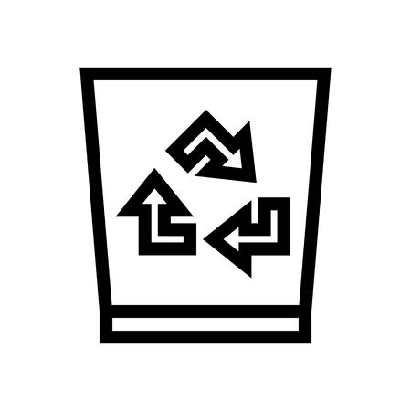Recycle Bin Trash Icon Vector 矢量图像