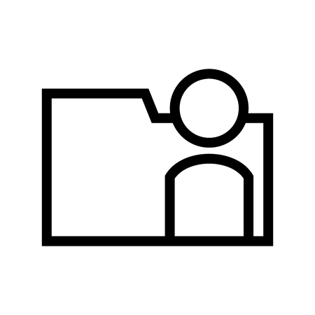 User Document File Personal Account Folder Computer Icon Flat Vector