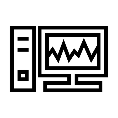 Task Manager/ Personal Computer Health Icon Vector