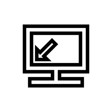 Computer Monitor Screen Resolution Icon Vector
