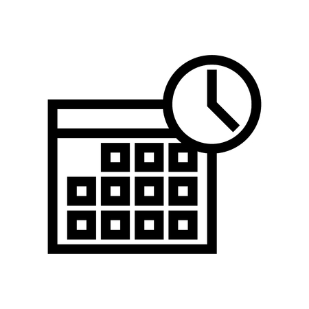 Agenda, Schedule & Calendar Icon Vector 矢量图像