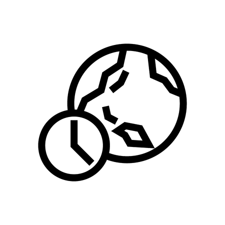 World Time & Date Icon Vector