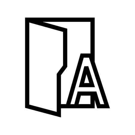Type Fonts Folder Icon Vector
