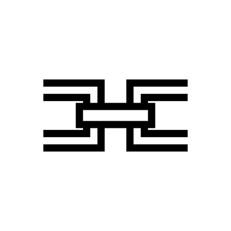 Chain / Insert Hypelink Document Icon Vector 矢量图像