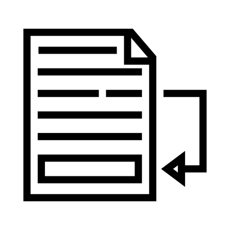 Insert Footnote Document Icon Vector