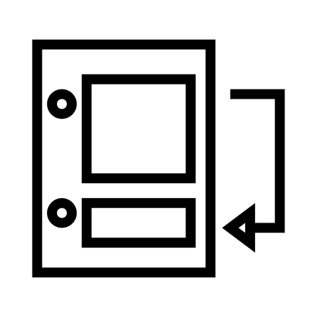 Insert Endnote Document Icon Vector