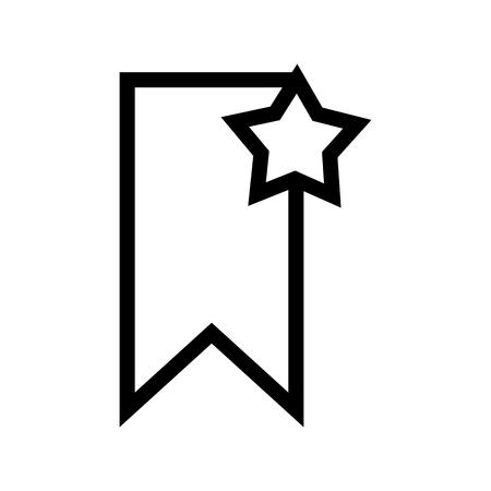 Insert Bookmark Document Icon Vector