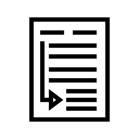 Insert Cross-reference Document Icon Vector 矢量图像