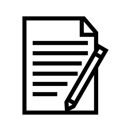 Show Track Changes Functions Document Icon Vector