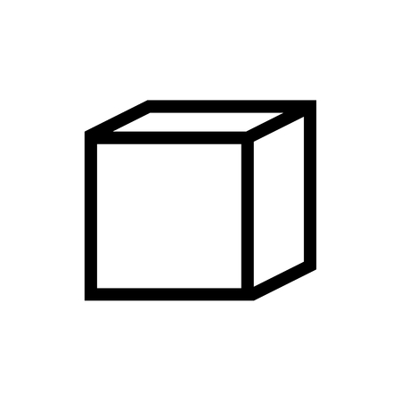 Cube Math Document 3D icon Vector