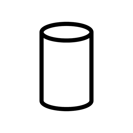 Cylinder Math Geometry 3D Icon Vector