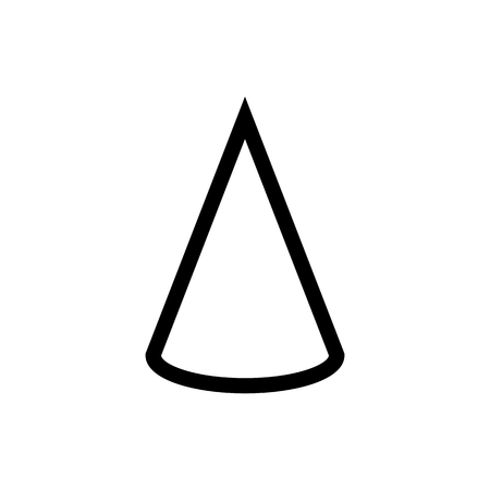 Cone Math Geometry Document Icon Vector 矢量图像