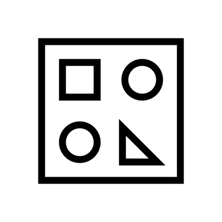 Show Draw Functions Document Icon Vector 矢量图像