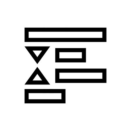 Decrease Paragraph Spacing Text Document Icon Vector