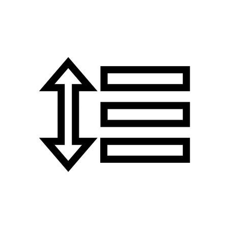 Set Line Spacing Text Document Icon Vector