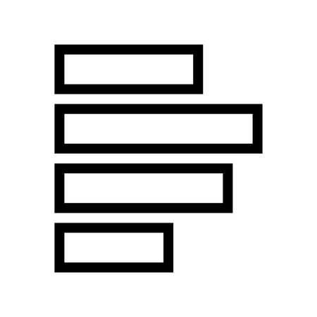 Align Left Text Document Icon Vector