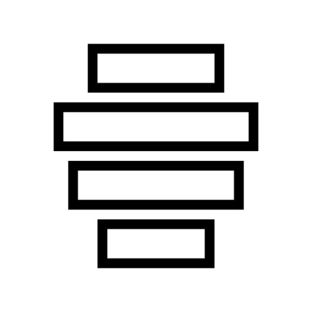 Align Center Horizontally Text Document Icon Vector 矢量图像