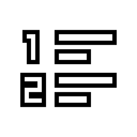 Toggle Numbered List Document Icon Vector