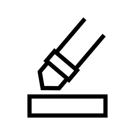 Marker Highlight Color Document Computer Icon Vector