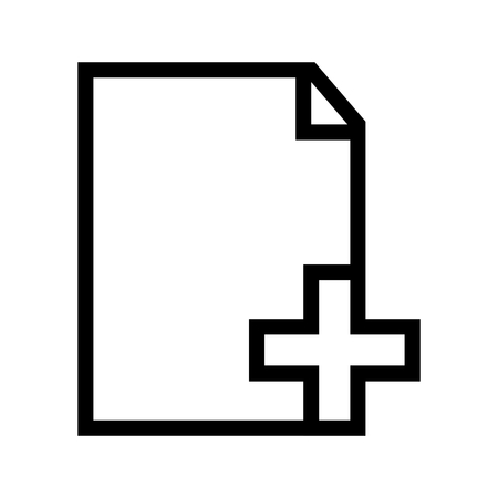 Create New Document from Default Template File Computer Icon Vector 矢量图像