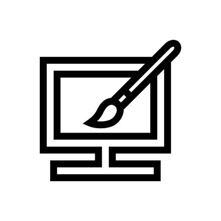 Computer Appearance Settings Icon Vector