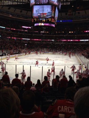 playoffs: Game 5 of the Blackhawks-Red Wings series in the 2013 Stanley Cup Playoffs.