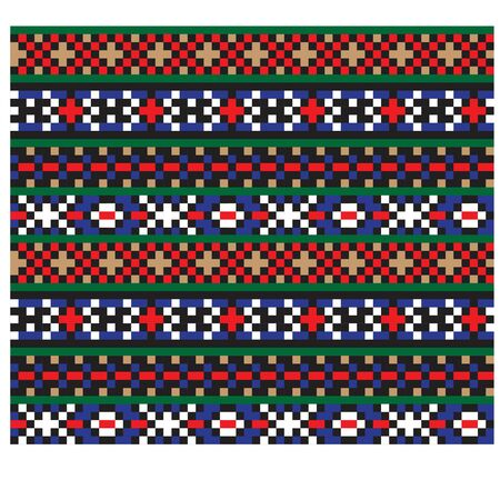 Modern Ethnic Fair Isle Seamless Print Background in Vector - This is a classic and ethnic Fair isle print suitable for both online/physical medium such as website resources, graphics, print designs, fashion textiles and etc.