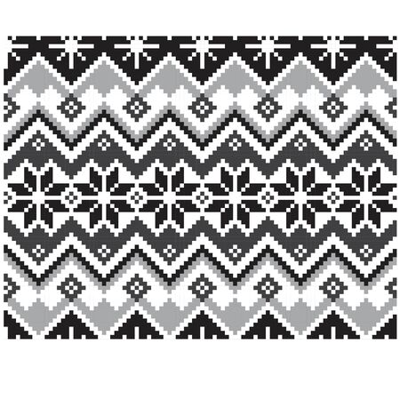 Christmas Fair Isle Seamless Print Background - This is a classic Christmas Fair isle print suitable for both onlinephysical medium such as website resources, graphics, print designs, fashion textiles and etc. Stock Photo