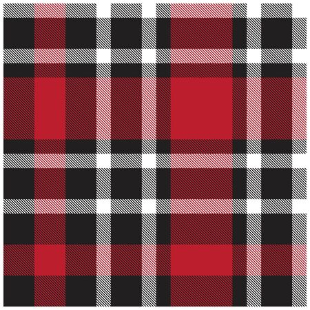 Colourful Classic Modern Plaid Tartan Seamless Print Pattern in Vector - This is a classic plaid(checkered/tartan) pattern suitable for shirt printing, jacquard patterns, backgrounds for various mediums and websites Vektorové ilustrace