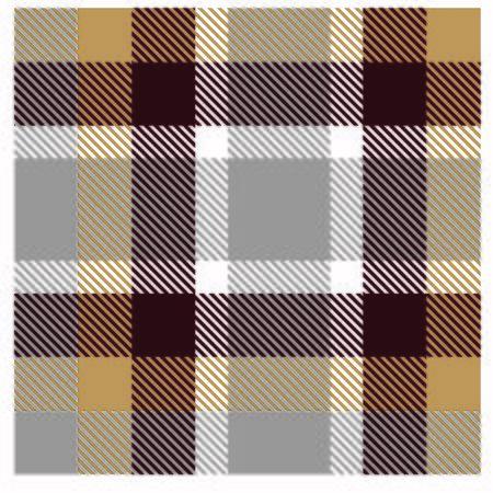 Colourful Plaid Tartan Seamless Pattern Illustration