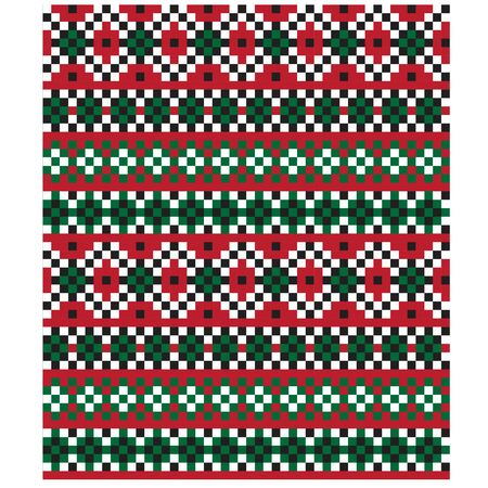 Christmas Fair Isle Seamless Pattern/Print Background in Vector - This is a classic Christmas Fair isle pattern suitable for both online/physical medium such as website resources, graphics, print designs, fashion textiles, knitwear and etc. 向量圖像