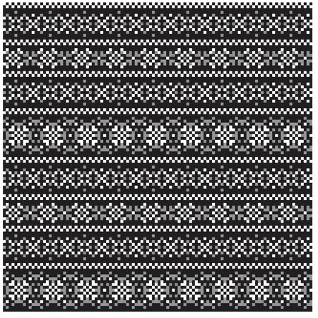 Christmas Fair Isle Seamless Pattern/Print Background in Vector - suitable for both online/physical medium such as website resources, graphics, print designs, fashion textiles, knitwear and etc.