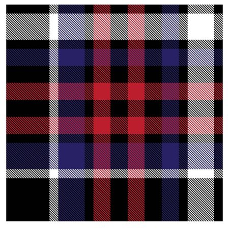 Colourful Classic Modern Plaid Tartan Seamless PrintPattern in Vector - This is a classic plaid(checkeredtartan) pattern suitable for shirt printing, jacquard patterns, backgrounds for various mediums and websites Stock Illustratie