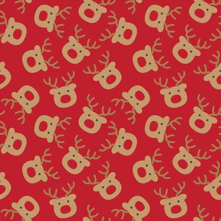 Colourful Festive Christmas Holiday seamless pattern/print background in vector - Suitable for Packaging, web design, graphics, fashion textiles, wallpaper and etc.