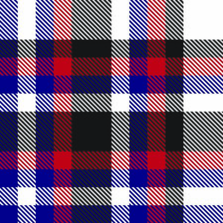Colourful Classic Modern Plaid Tartan Seamless Print/Pattern in Vector - This is a classic plaid(checkered/tartan) pattern suitable for shirt printing, fabric, textiles, jacquard patterns, backgrounds and websites Illustration